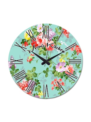 Blue Printed Moms Kitchen Wall Clock