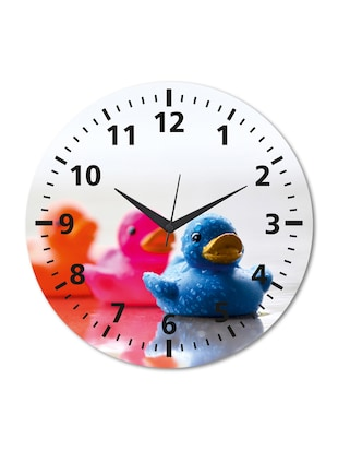 Multicolored Printed Chick Wall Clock