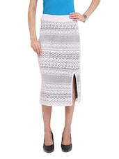 Lace Skirt With Contrast Lining - Ridress