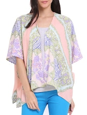 Pastel Print Throw Shrug - Ridress
