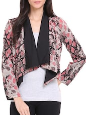 Snake Print Waterfall Shrug - Ridress