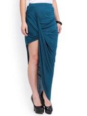 Teal Asymmetrical Skirt - Ridress