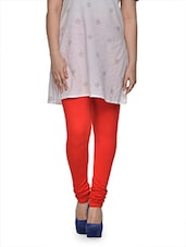 Red Viscose Lycra Legging - ETHNIC