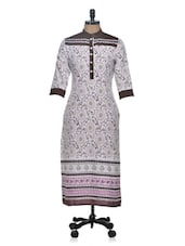 Printed Three Quarter Sleeved  Long Kurta - Tulsattva