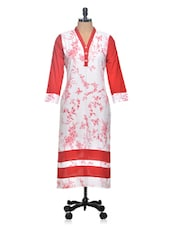 Color Block Printed Long Kurta - Tulsattva