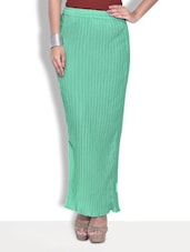 Solid Mint Green Georgette Long Skirt - By