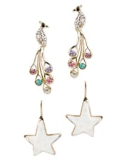 White Stars Dangler Earrings - YOUSHINE