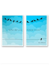 """Be Different"" Blue Printed Sappi Paper Poster (Set Of 2) - By"