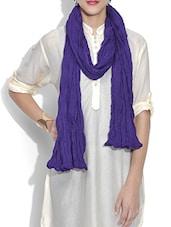Solid Purple Cotton Dupatta - By