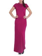 Cerise Pink Embellished Maxi Dress - Pera Doce