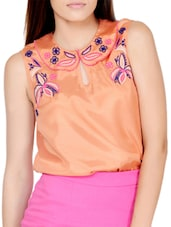 Floral Touch Pretty Peach Top - Pera Doce