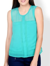 Dynasty Green Sheer Top - Pera Doce