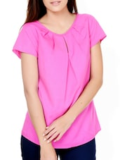 Hot Pink Gather Detail Top - Pera Doce