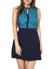 Flirty Fit-and-Flare Blue Dress - Pera Doce