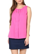 Hot Pink Front Flap Top - Pera Doce