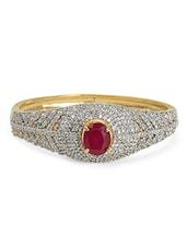 Gold Plated Heavy Embellished Bracelet - Blinglane