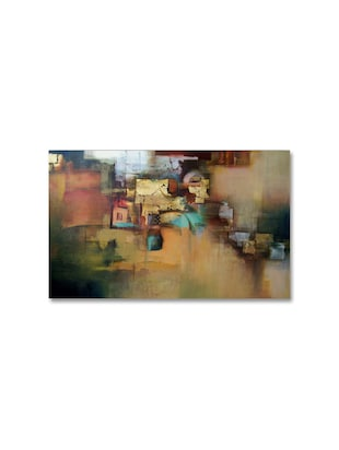 Multicolour abstract printed canvas painting