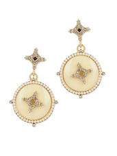 Gold Plated Vintage Style Statement Earrings - Blinglane