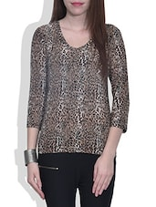 Multicolored Leopard Printed Cotton Tunic - By