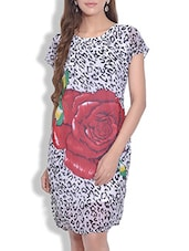 Multicolored Georgette Floral Printed Dress - By