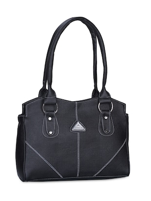 Black Leatherette Handbag