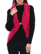 Pink Wool Top And Shrug Set - By