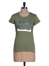 Rama Green Half Sleeve Crew Neck T-shirt - Aloha