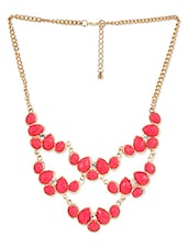 Pink Acrylic Stones Neckpiece - Stol'n