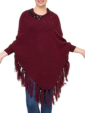 purple acrylic poncho -  online shopping for Ponchos
