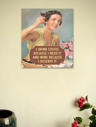 I drink coffee because I need it- Wall Poster