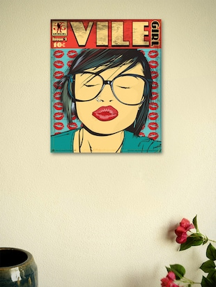 Vile girl- Wall Poster