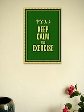 Keep Calm And Exercise-Quotes Poster - Seven Rays