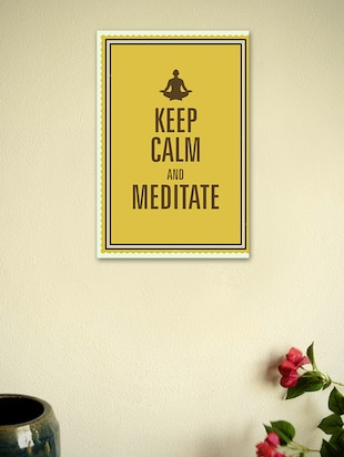 Keep Calm and Meditate-Quotes Poster