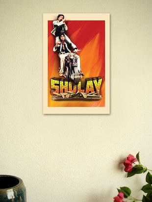 Sholay Movie Fine Art Poster-2