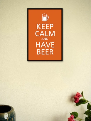 Keep Calm and Have Beer Framed Poster