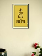 Keep Calm And Meditate Framed Poster - Seven Rays