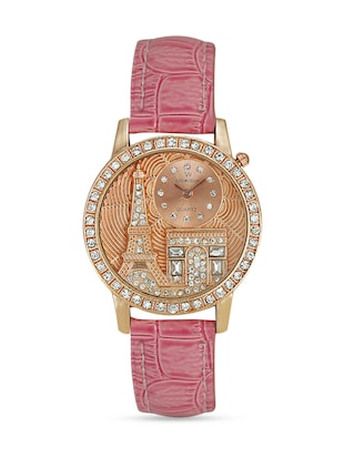 pink Leatherette watch