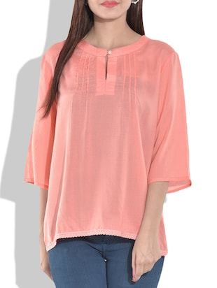 Solid peach rayon top