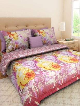 multicolour Poly Cotton bedsheet