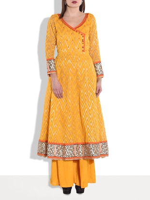 dark yellow embellished sharara set