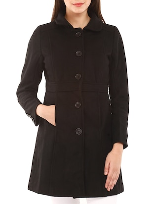 Black Woollen  Coat