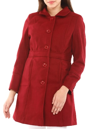 Red Woollen  Coat