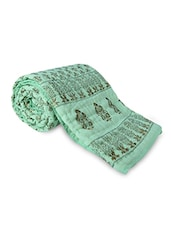 Sea Green Printed Cotton Quilt - By