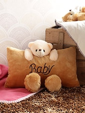 Baby Pillow  Cum Softoy   Cum Cushion For Kids -   Golden - By