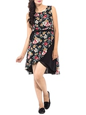 Black Rayon Printed Dress -  online shopping for Dresses