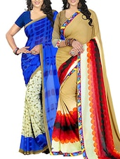 multicolor Georgette printed saree -  online shopping for Sarees