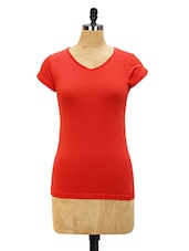 V-Neck Casual Tee - Miss Chase