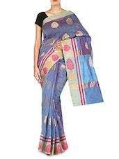 Purple Color Matka Cotton Woven  Saree -  online shopping for Sarees