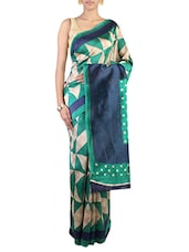 Multi Colored Art Silk Printed  Saree - By