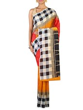 Orange Art Silk Saree - By